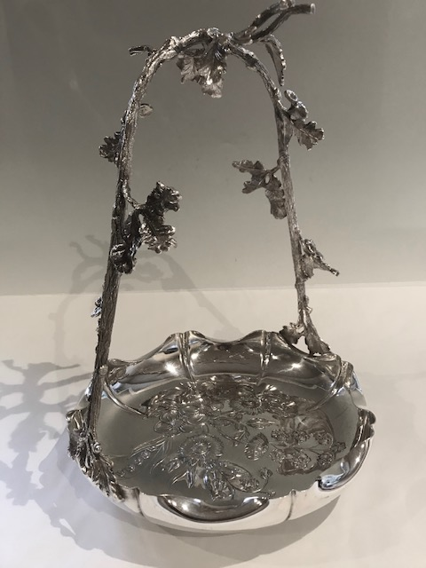 Antique Mappin & Webb Silver Plated Double Grapes Stand