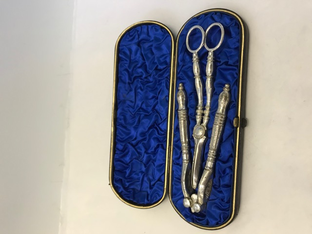 Antique Silver Plated Boxed Fruit and Nut Set