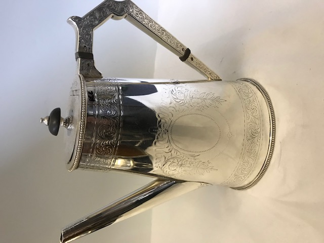 Antique Silver Plated Can Shaped Elkington Coffee Pot