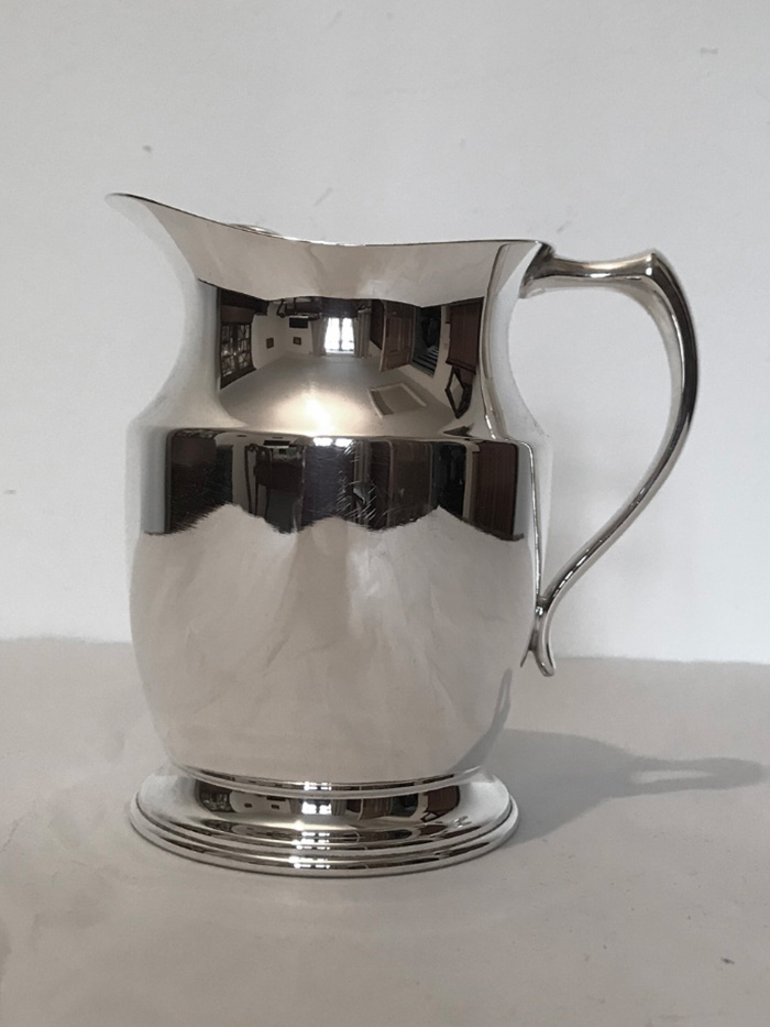 Charming Little Antique Silver Plated Water Pitcher