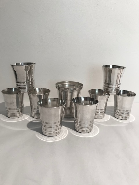 Set of Vintage Silver Plated Cocktail Beakers
