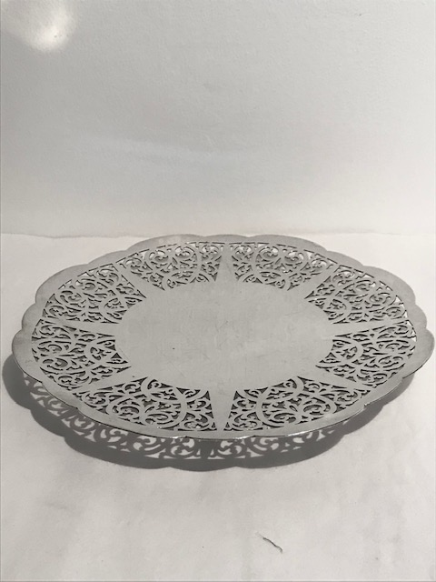 Mappin & Webb Antique Silver Plated Cake or Snacks Plate