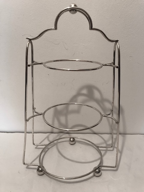 Cute Silver Plated Three Tier Cake Stand