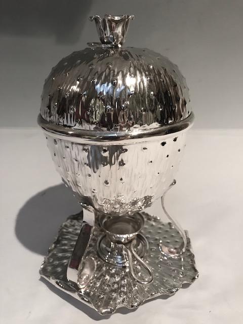 Antique Aesthetic Movement Silver Plated Egg Coddler Boiler