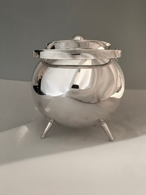 Vintage Silver Plated Sauce Tureen in the Style of Christopher Dresser