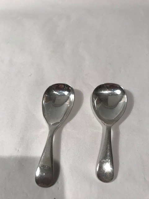 Two Tea Caddy Spoons with Old English Pattern Handles