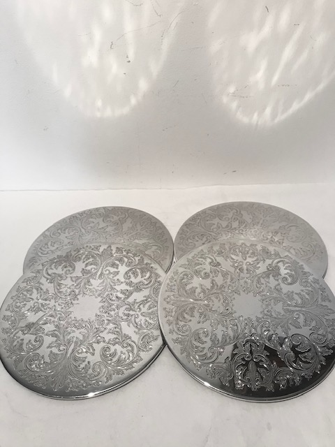 Four Vintage Silver Plated Place Mats