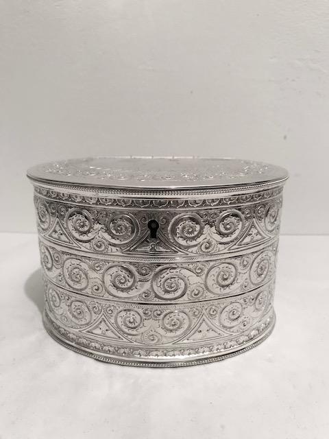 Smart Antique Silver Plated James Dixon & Sons Tea Caddy