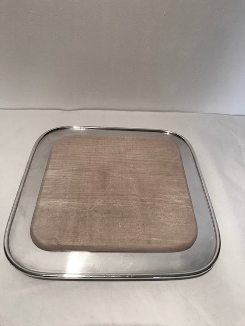 Stylish Antique Bread Board and Original Silver Plated Tray